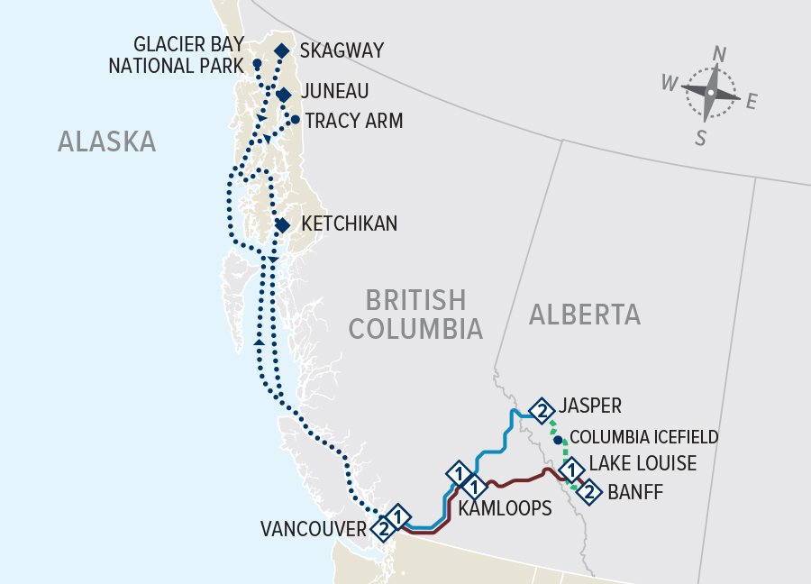Canadian Rockies Circle with Pre-Tour Cruise ms Volendam